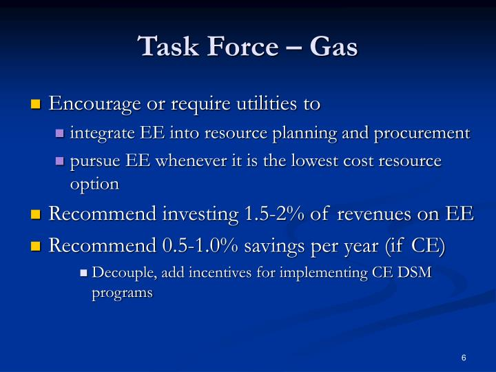 Task Force – Gas