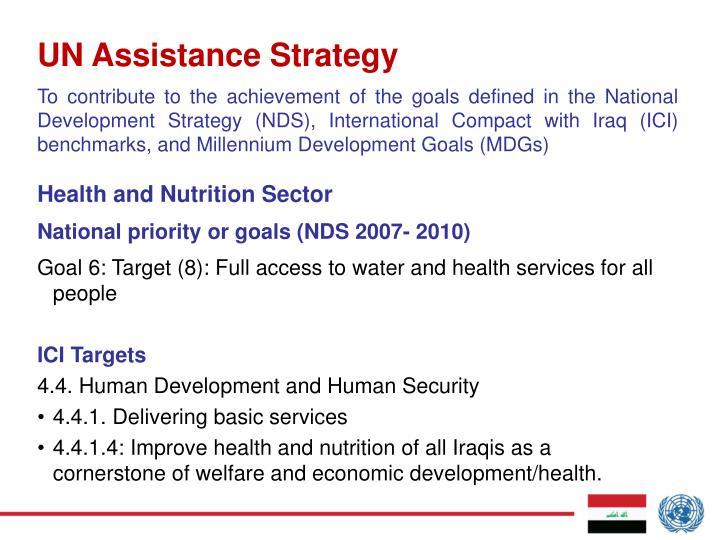 UN Assistance Strategy
