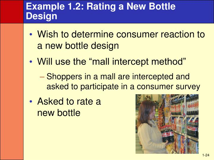 Example 1.2: Rating a New Bottle Design