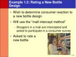 example 1 2 rating a new bottle design