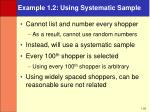 example 1 2 using systematic sample