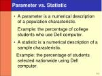 parameter vs statistic