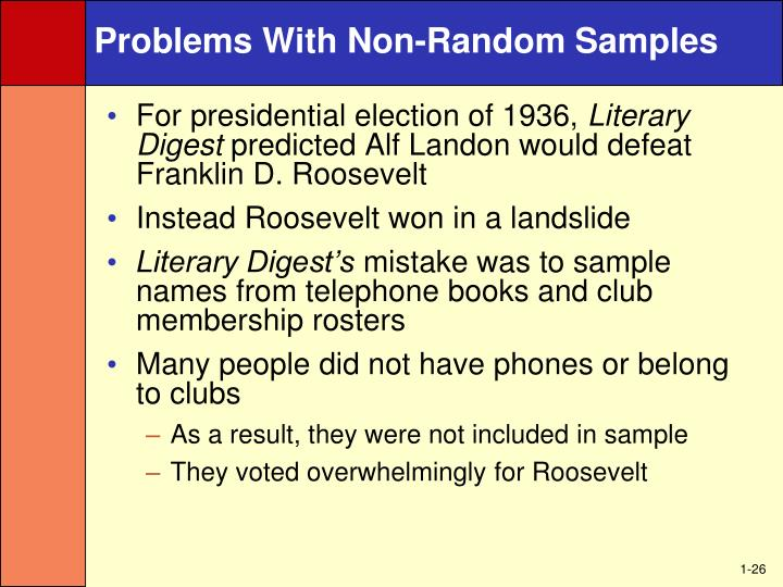 Problems With Non-Random Samples