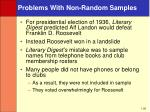problems with non random samples