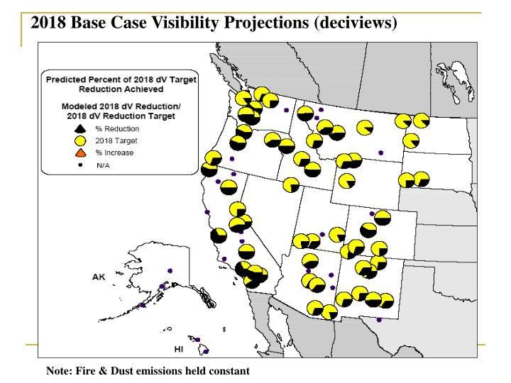 2018 Base Case Visibility Projections (deciviews)