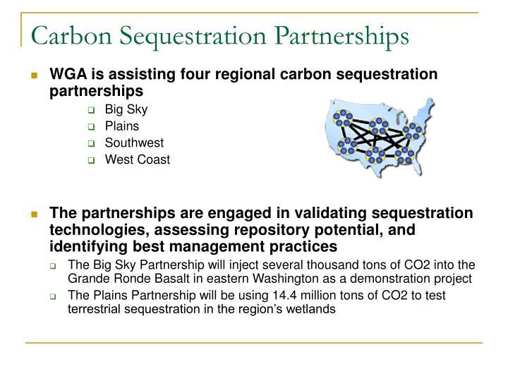 Carbon Sequestration Partnerships