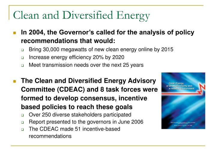 Clean and Diversified Energy