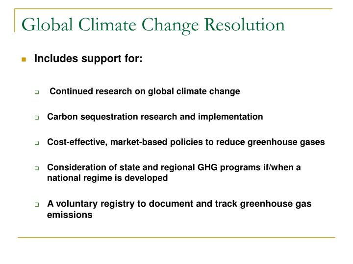 Global Climate Change Resolution