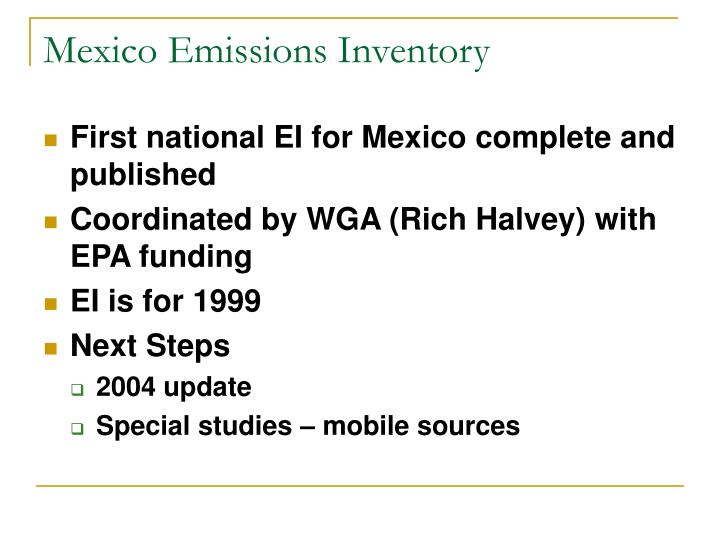 Mexico Emissions Inventory
