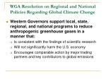 wga resolution on regional and national policies regarding global climate change