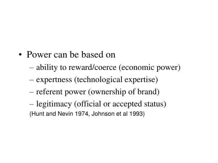 Power can be based on