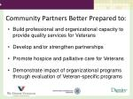 community partners better prepared to