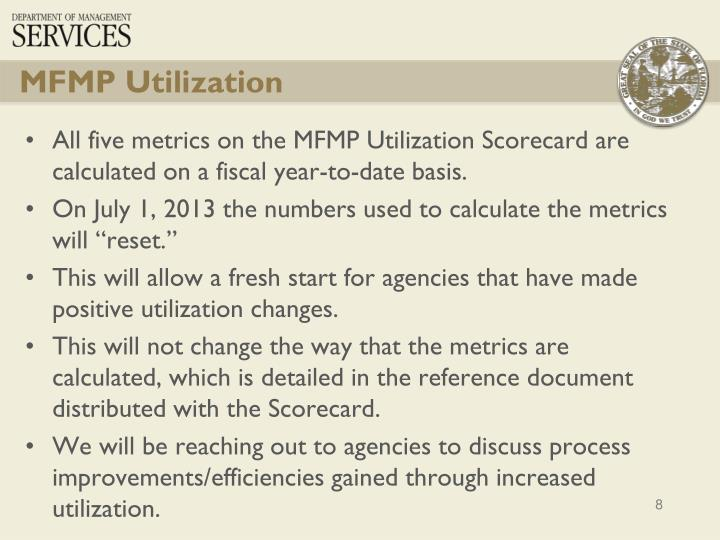 MFMP Utilization