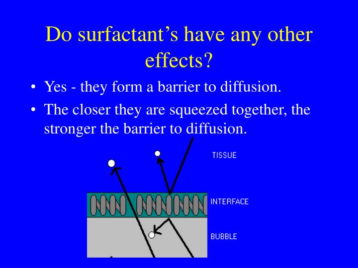 Do surfactant's have any other effects?