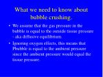 what we need to know about bubble crushing