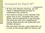homework for march 14 th