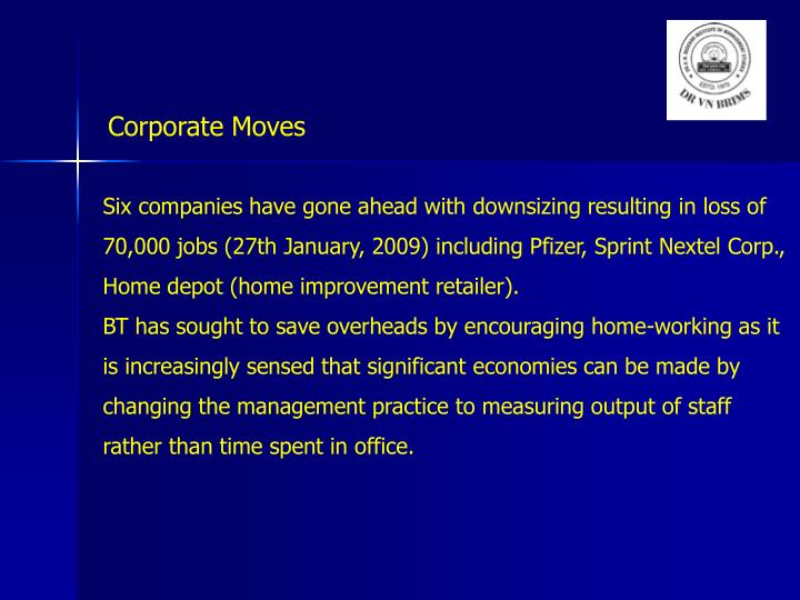 Corporate Moves
