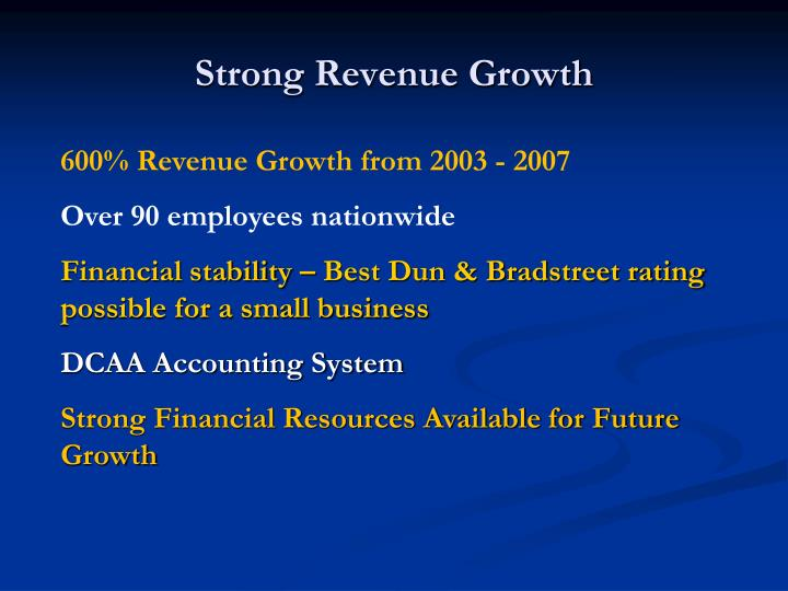 Strong revenue growth