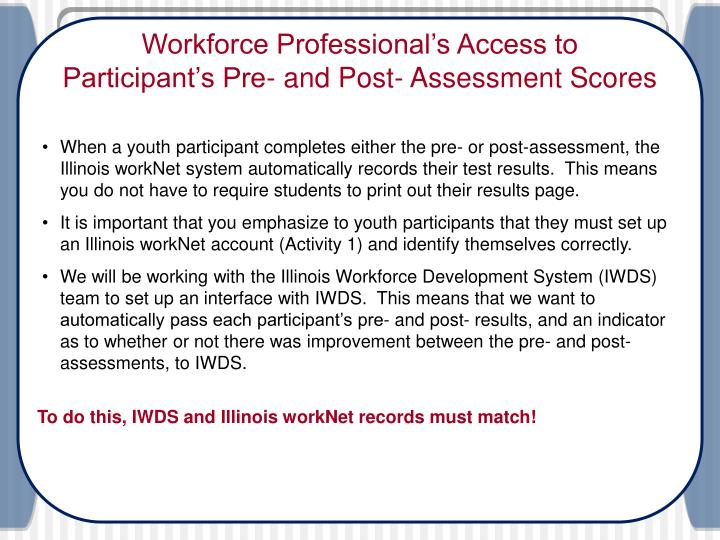 Workforce Professional's Access to