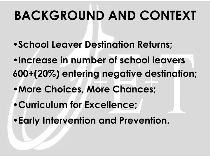 School Leaver Destination Returns;