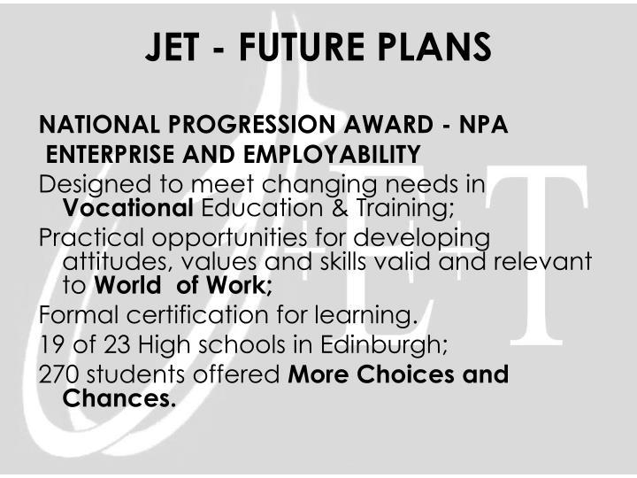 NATIONAL PROGRESSION AWARD - NPA