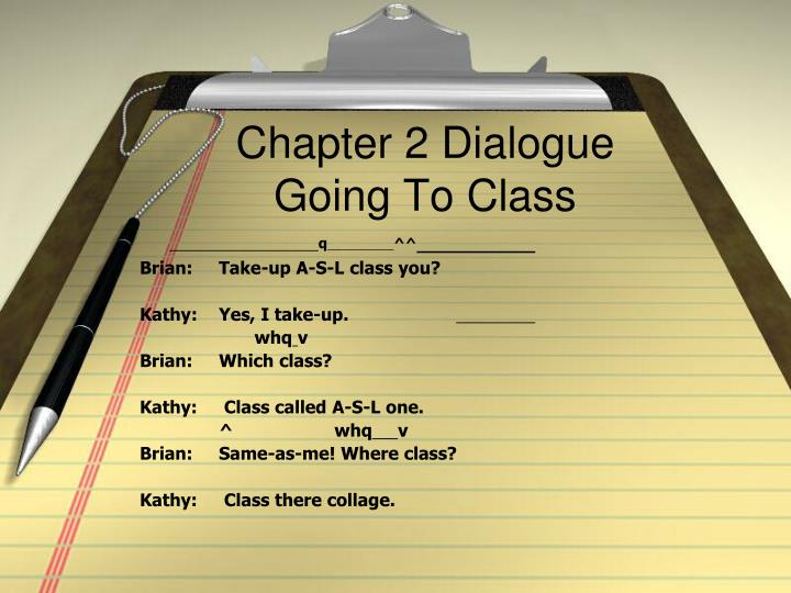 Chapter 2 Dialogue