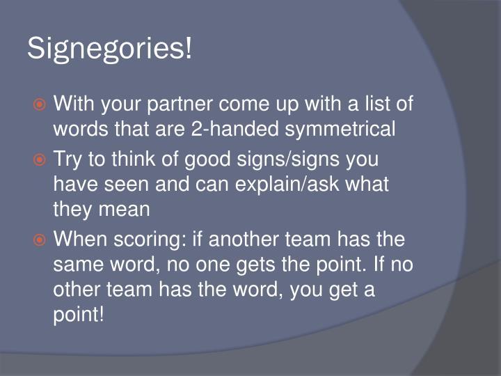 Signegories