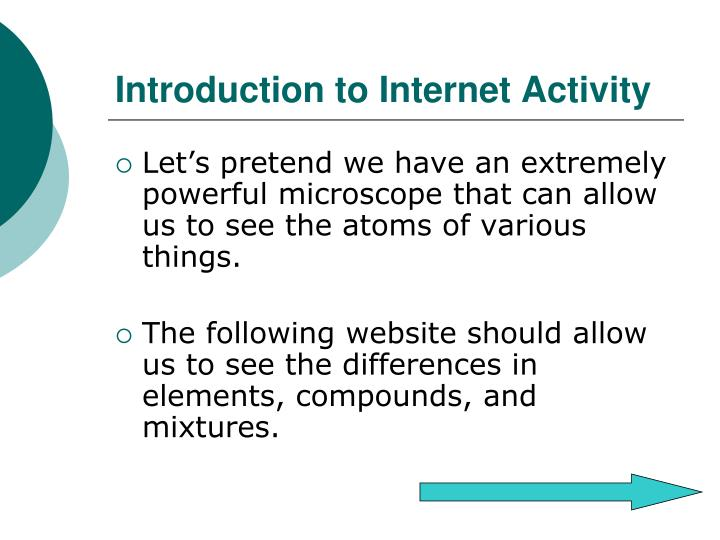 Introduction to Internet Activity