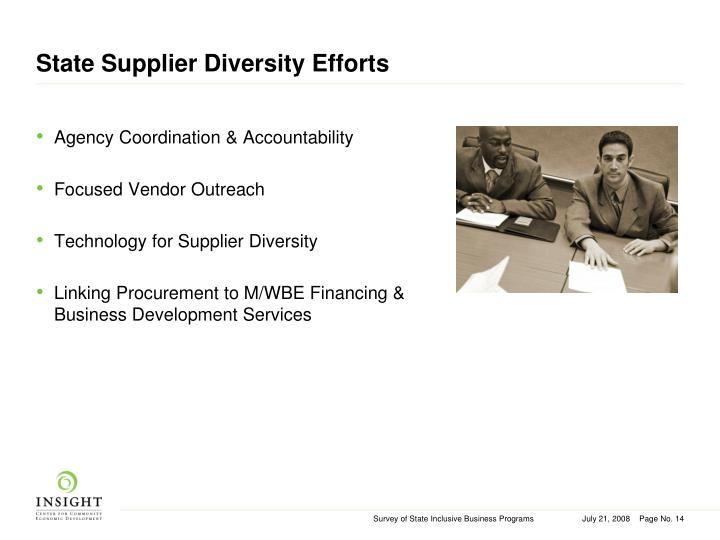 State Supplier Diversity Efforts