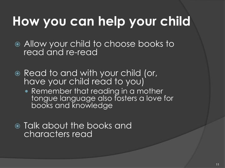 How you can help your child