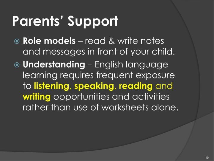 Parents' Support