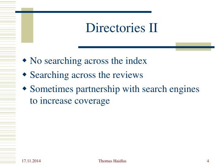 Directories II