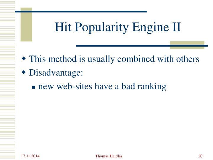 Hit Popularity Engine