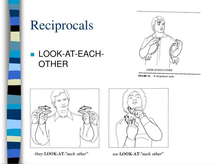 Reciprocals