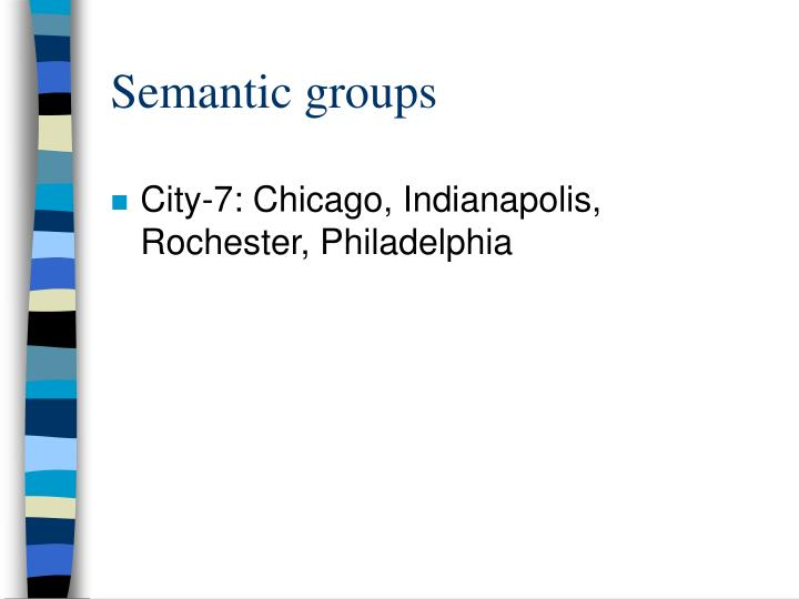 Semantic groups