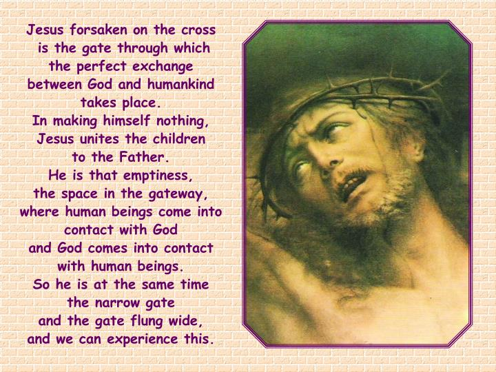 Jesus forsaken on the cross