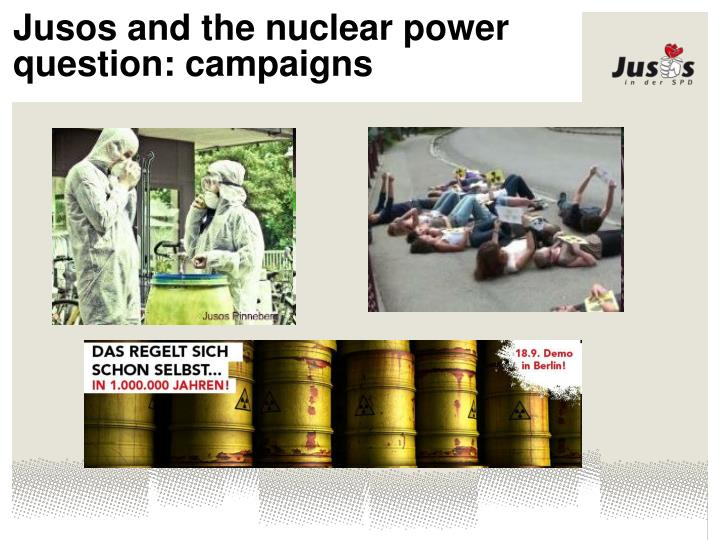 Jusos and the nuclear power question: campaigns