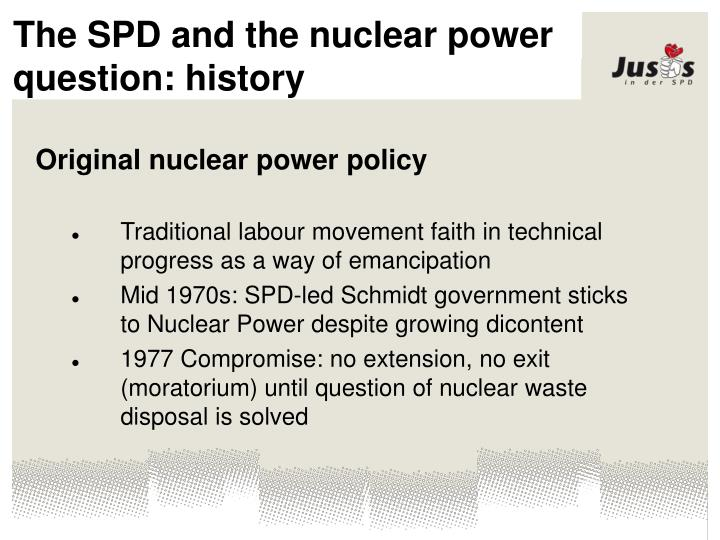 The SPD and the nuclear power question