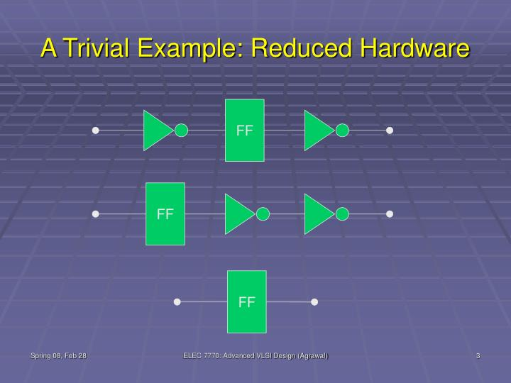 A trivial example reduced hardware