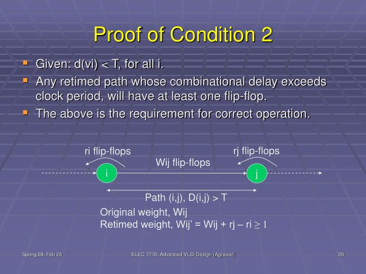 Proof of Condition 2