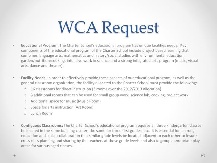WCA Request