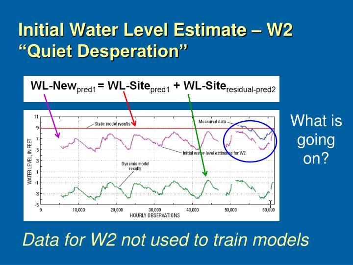 Initial Water Level Estimate – W2