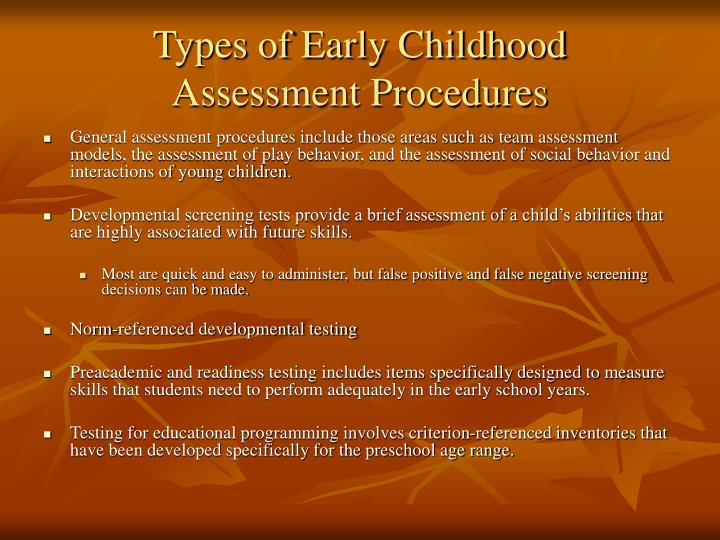 Types of Early Childhood
