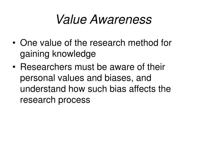 Value Awareness