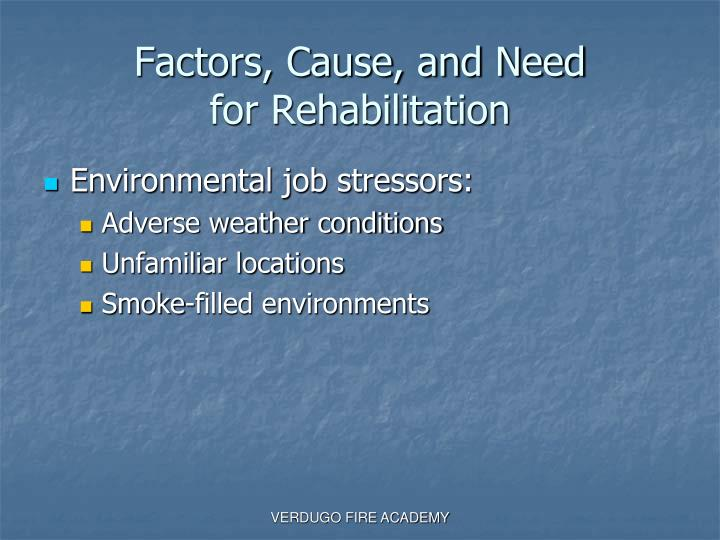Factors, Cause, and Need