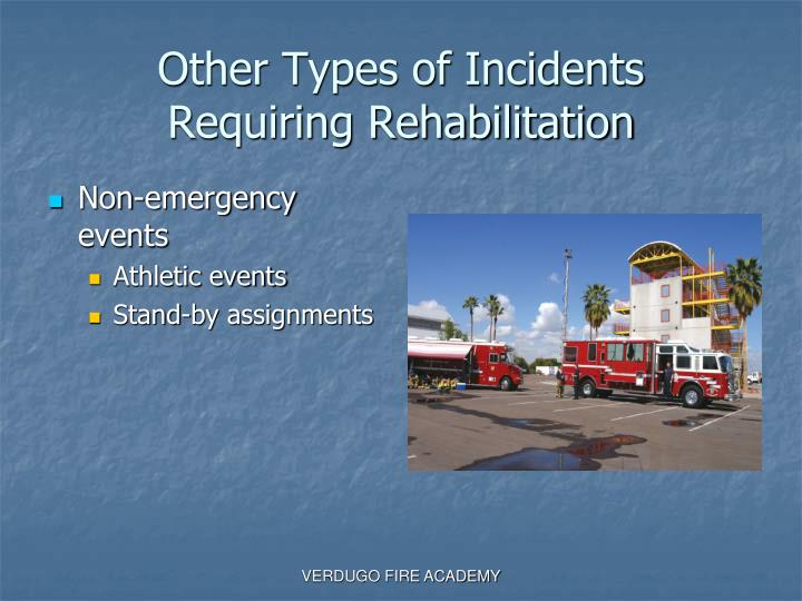 Other Types of Incidents