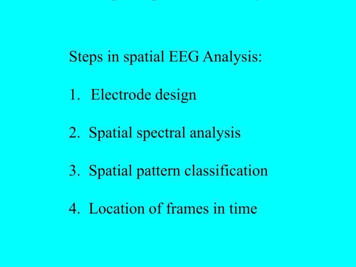 2: Steps in spatial EEG Analysis