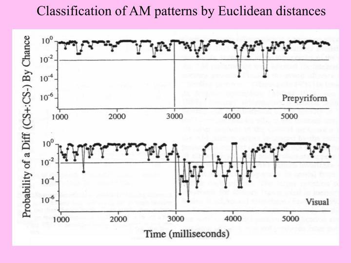 Classification of AM patterns by Euclidean distances