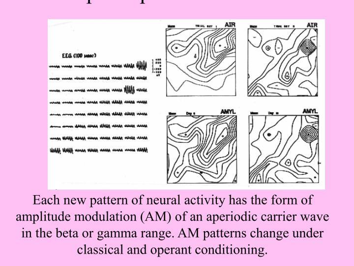 Spatial patterns of EEG