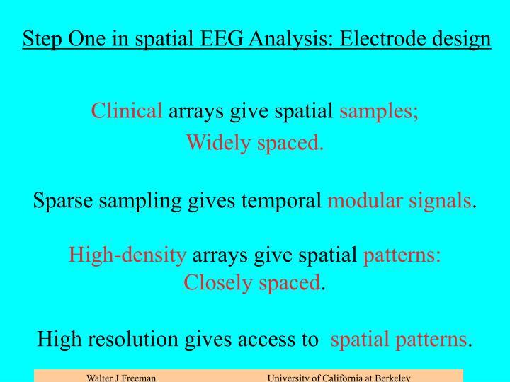 Step One: Spatial sampling vs. spatial function